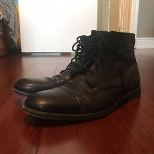 The Frye Company Cap Toe Leather Boots